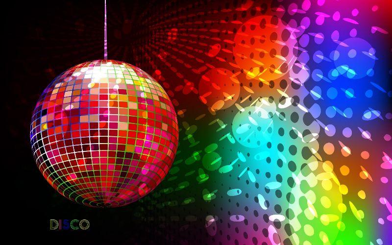 Disco Ball Color Art