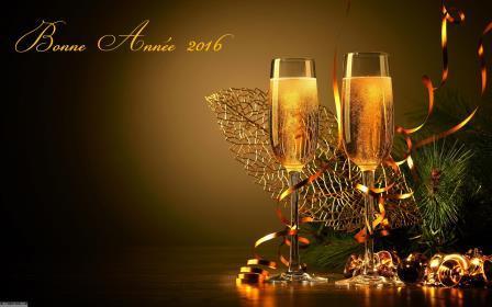 Coupe De Champagne Et Bonne Annee Nouvel An 2016 836