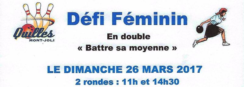 Affiche DEFI Feminin Banniere