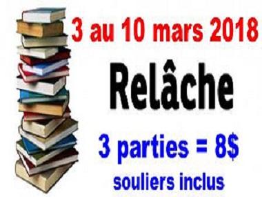 Diapositive Relache Livres 2018